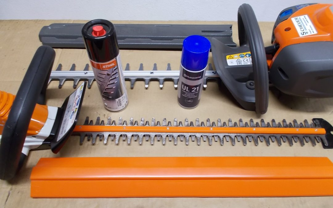 Tipp aus unserer Werkstatt: Heckenscherenmesser pflegen